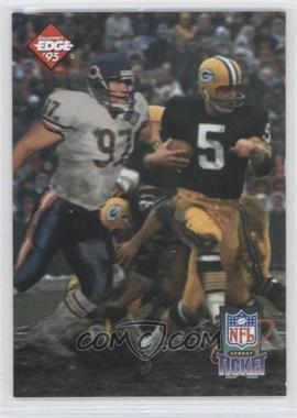 1995 Collector's Edge Sunday Ticket Time Warp Prism Back #1 - Paul Hornung, Chris Zorich /2500