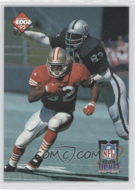 1995 Collector's Edge Sunday Ticket Time Warp Prism Back #3 - Ricky Watters, Ted Hendricks /2500
