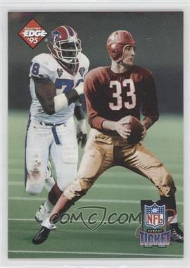 1995 Collector's Edge Sunday Ticket Time Warp Prism Back #4 - Bruce Smith, Sammy Baugh /2500