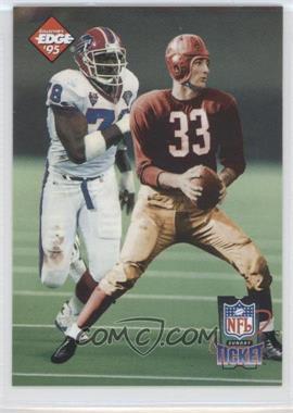1995 Collector's Edge Sunday Ticket Time Warp Prism Back #4 - Bruce Smith, Sammy Baugh /2500