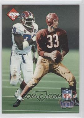 1995 Collector's Edge Sunday Ticket Time Warp Prism Back #4 - Bruce Smith /2500