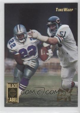 1995 Collector's Edge Time Warp Black Label 22K Gold #1 - Dick Butkus, Emmitt Smith