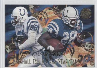 1995 Fleer Ultra Second Year Standouts Gold Medallion #5 - Marshall Faulk