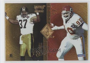 1995 Playoff Absolute Quad Series #Q48 - Neil Smith, Carnell Lake, Kevin Greene, Rod Smith
