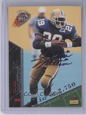 1995 Signature Rookies - [Base] - International Signatures [Autographed] #49 - Curtis Martin /2750