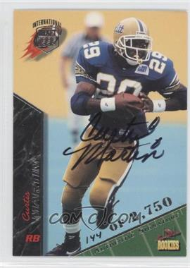 1995 Signature Rookies International Signatures [Autographed] #49 - Curtis Martin /2750