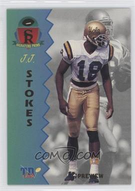 1995 Signature Rookies Prime - TD Club Previews #P-4 - J.J. Stokes
