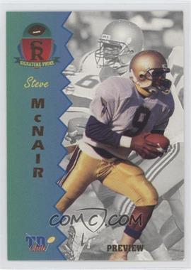 1995 Signature Rookies Prime [???] #P-2 - Steve McNair
