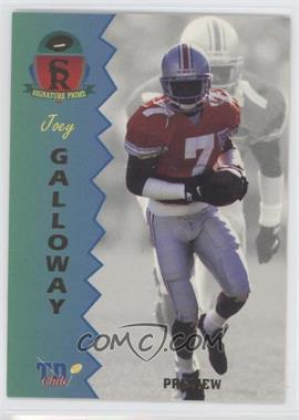 1995 Signature Rookies Prime [???] #P-3 - Joey Galloway