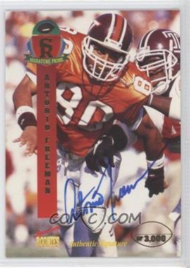 1995 Signature Rookies Prime Autographs [Autographed] #16 - Antonio Freeman /3000