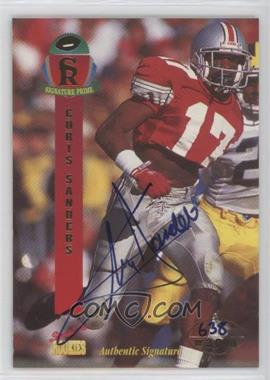 1995 Signature Rookies Prime Autographs [Autographed] #35 - Chris Sanders /3000
