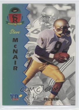 1995 Signature Rookies Prime TD Club Previews #P-2 - Steve McNair