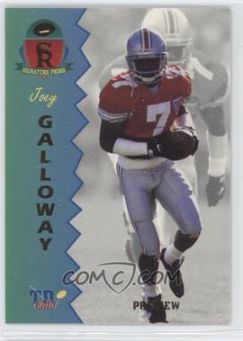 1995 Signature Rookies Prime TD Club Previews #P-3 - Joey Galloway