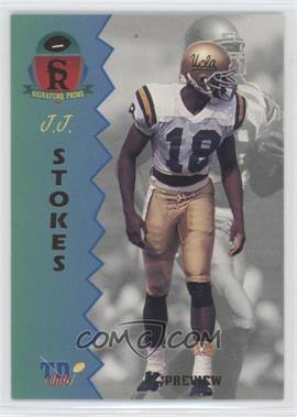 1995 Signature Rookies Prime TD Club Previews #P-4 - J.J. Stokes
