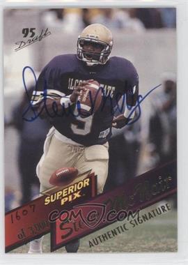 1995 Superior Pix - [Base] - Autographs [Autographed] #3 - Steve McNair /3000