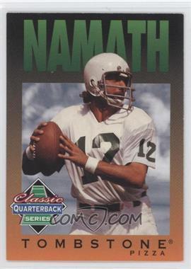 1995 Tombstone Pizza Classic Quarterback Series - [Base] #7 - Joe Namath