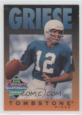 1995 Tombstone Pizza Classic Quarterback Series #5 - Bob Griese