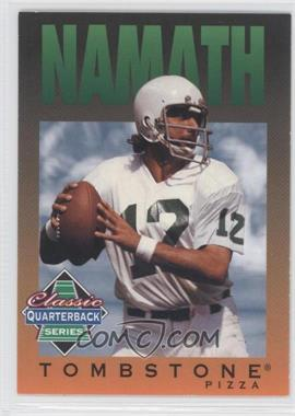 1995 Tombstone Pizza Classic Quarterback Series #7 - Joe Namath