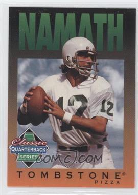1995 Tombstone Pizza Classic Quarterback Series #7 - Joe Namath
