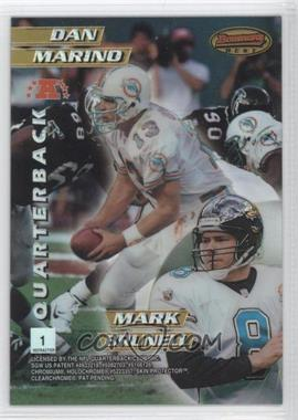 1996 Bowman's Best Mirror Image Refractor #1 - Kerry Collins, Steve Young, Dan Marino, Mark Brunell