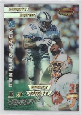 1996 Bowman's Best Mirror Image Refractor #4 - Emmitt Smith, Chris Warren