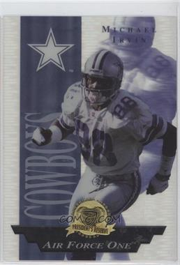 1996 Collector's Edge President's Reserve Air Force One Jumbo #27 - Michael Irvin /1300