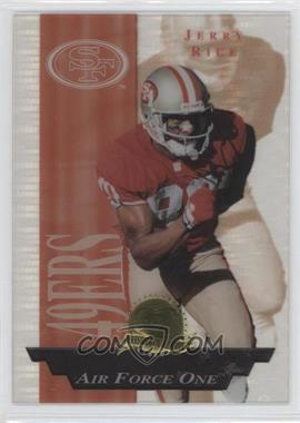 1996 Collector's Edge President's Reserve Air Force One #28 - Jerry Rice /2500