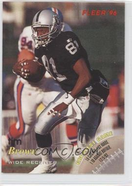 1996 Fleer [???] #24 - Tim Brown