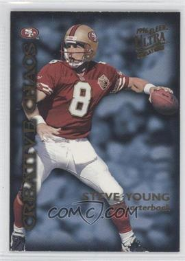1996 Fleer Ultra Sensations Creative Chaos #3 - Steve Young, Curtis Martin