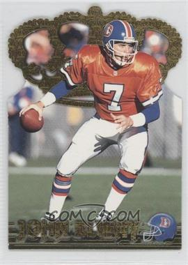 1996 Pacific Crown Collection Gold Crown Die-Cuts #GC-6 - John Elway