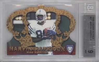 1996 Pacific Crown Royale - [Base] #CR-27 - Marvin Harrison [BGS9]