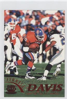 1996 Pacific Pure NFL Gridiron - [Base] - Red #35 - Terrell Davis