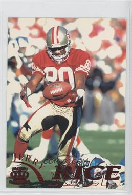 1996 Pacific Pure NFL Gridiron Red #110 - Jerry Rice