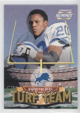 1996 Pinnacle Summit - Turf Team #6 - Barry Sanders /4000