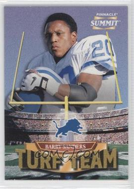 1996 Pinnacle Summit Turf Team #6 - Barry Sanders /4000