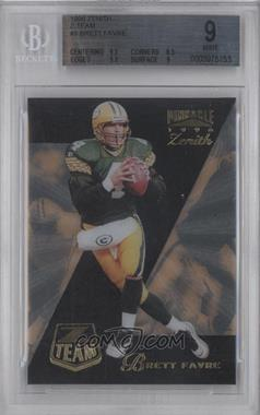 1996 Pinnacle Zenith - Z Team #9 - Brett Favre [BGS 9]