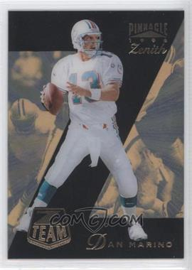 1996 Pinnacle Zenith Z Team #12 - Dan Marino