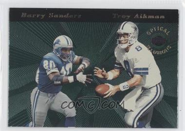 1996 Playoff Illusions Optical Illusions #2 - Barry Sanders, Troy Aikman