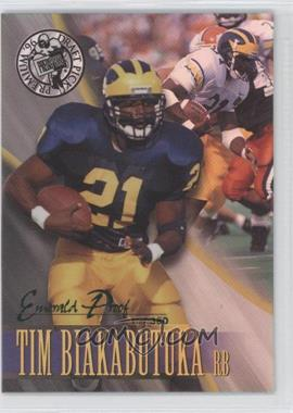 1996 Press Pass Premium Emerald Proof Holofoil #14 - Tim Biakabutuka /380