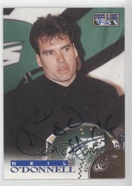 1996 Pro Line Autographs Gold #NEOD - Neil O'Donnell /250