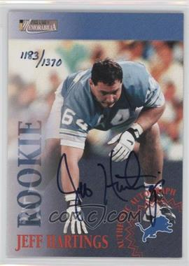 1996 Pro Line II Memorabilia Rookie Autographs #JEHA - Jeff Hartings /1370