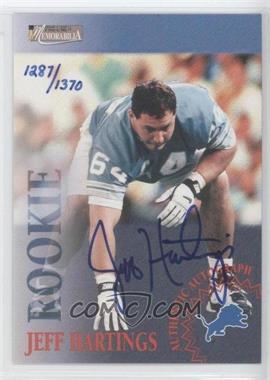 1996 Pro Line II Memorabilia Rookie Autographs #N/A - Jeff Hartings /1370