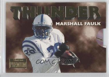 1996 Skybox Premium - Thunder & Lightning #3 - Marshall Faulk, Jim Harbaugh