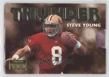 1996 Skybox Premium - Thunder & Lightning #5 - Steve Young, Jerry Rice