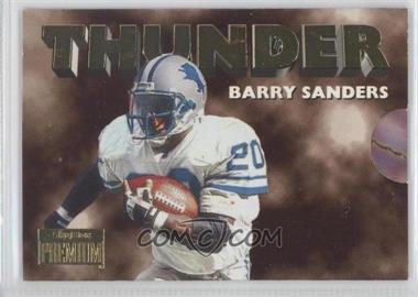 1996 Skybox Premium Thunder & Lightning #2 - Barry Sanders, Scott Mitchell