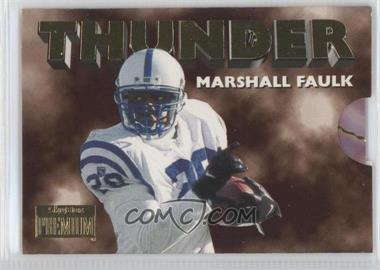 1996 Skybox Premium Thunder & Lightning #3 - Marshall Faulk, Jim Harbaugh