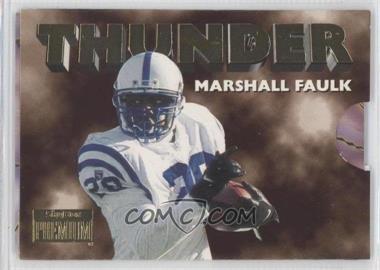 1996 Skybox Premium Thunder & Lightning #3 - Marshall Faulk