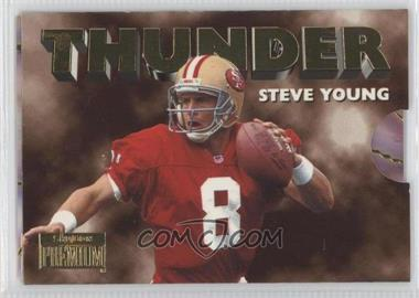 1996 Skybox Premium Thunder & Lightning #5 - Steve Young, Jerry Rice