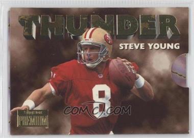 1996 Skybox Premium Thunder & Lightning #5 - Steve Young