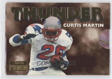 1996 Skybox Premium Thunder & Lightning #8 - Curtis Martin, Drew Bledsoe